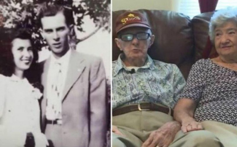 美國老夫婦赫伯特與弗朗西絲(Herbert and Frances DeLaigle)結婚71年,兩人在12日雙雙過世。(圖擷自KISS FM Cd del Carmen臉書)
