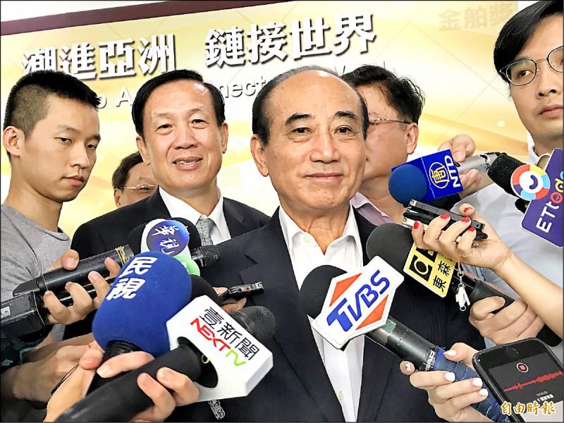 助韓登大位?王:我是支持他選市長