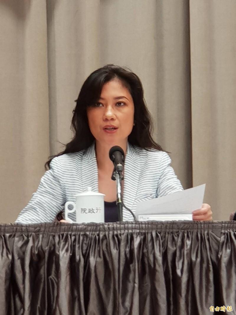 行政院發言人谷辣斯.尤達卡(Kolas Yotaka)呼籲台北市長柯文哲把不必要的情緒放在一邊。(記者李欣芳攝)