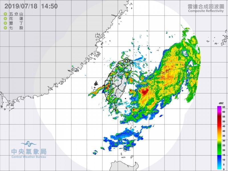 丹娜絲海警最快今晚20:30解除  明低壓挾豪大雨襲東、南部