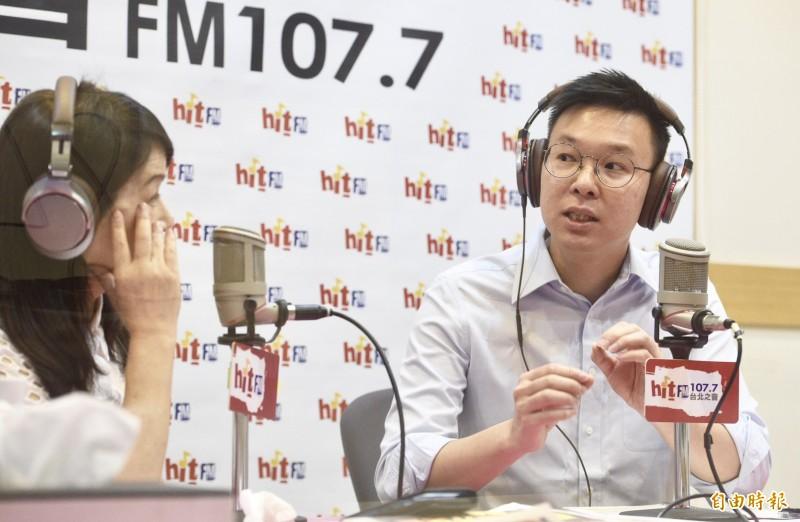 林飛帆說,他不是很擔心韓國瑜,或中國直接入侵,而是擔心過去一項一項改革,將會全部化為烏有。(記者羅沛德攝)