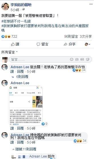 李婉玉臉書發文。(資料照)