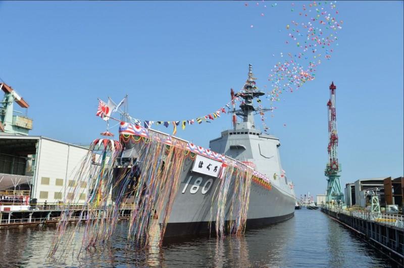 日本新神盾護衛艦「羽黑」下水 2021年開始服役