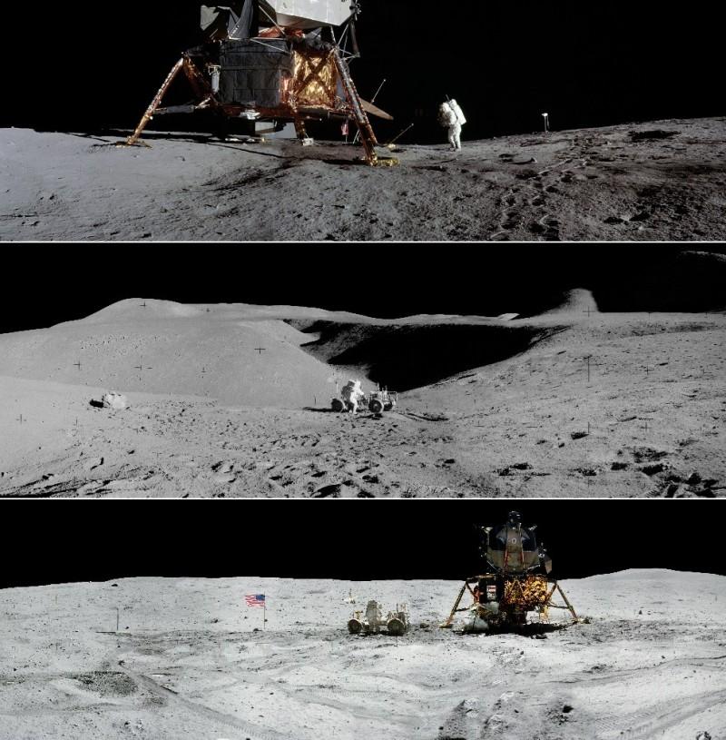 美國太空總署(NASA)發布一系列登月任務全景圖片。(擷自美國太空總署官網)<br /><p>