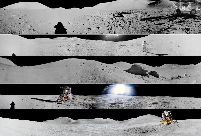 今天是美國阿波羅11號登月任務50週年,也是知名太空人阿姆斯壯踏出那歷史性一步的日子,美國太空總署(NASA)發布一系列登月任務全景圖片,紀念此一徹底改變人類太空發展史的登月任務。(擷自美國太空總署官網)<br /><p>