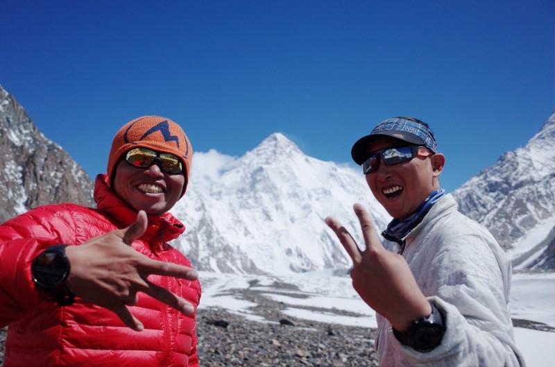 從未有台灣人攻頂成功的K2,呂忠翰和張元植決定攜手挑戰,期待改寫台灣登山界歷史新頁。(陳德政提供)