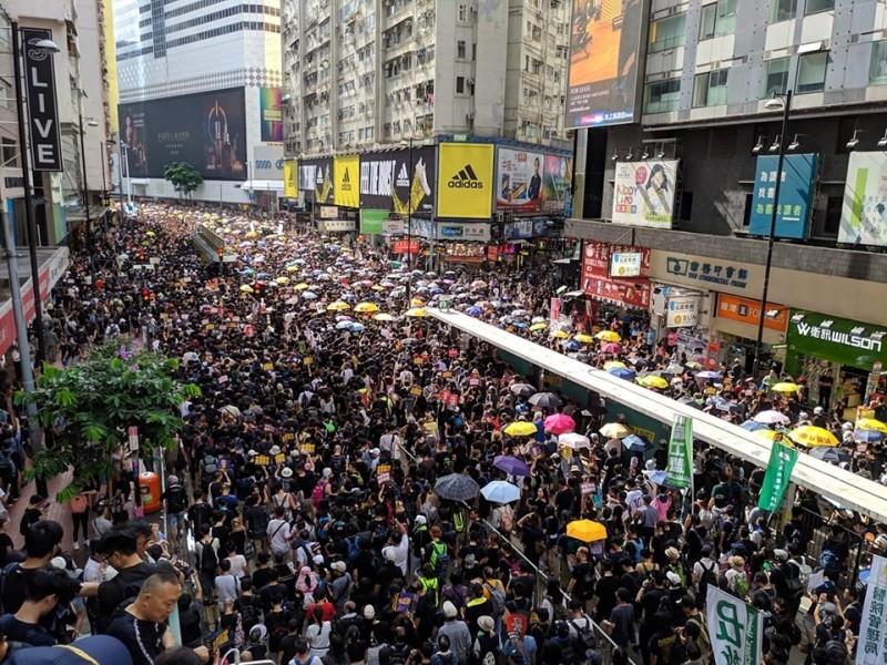 香港「民間人權陣線」今(21)日再發起遊行。(圖擷取自臉書_民間人權陣線)