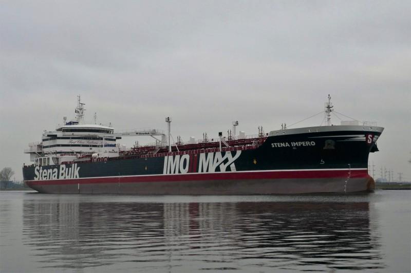 伊朗革命衛隊(Revolutionary Guards)昨日扣押英國油輪,國際情勢緊張。(法新社)