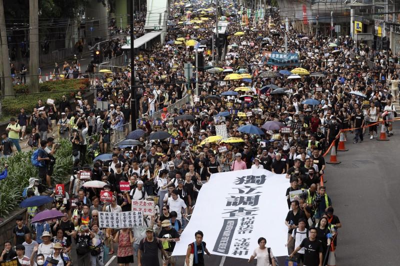 香港「送中條例」修訂的風波未息,「民間人權陣線」(民陣)發起721遊行。(美聯社)