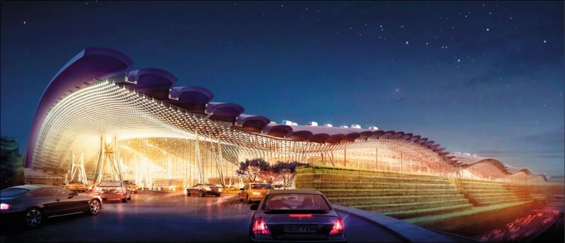 桃園國際機場第三航廈由英國團隊設計,講求流線型設計,建築外形猶如一隻飛鳥展翼。(圖:取自桃機公司官網)