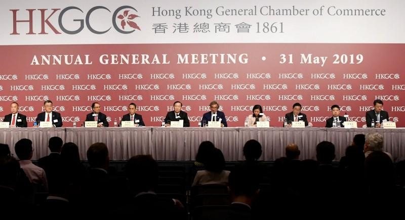 「香港總商會」表示,港府應正式撤回《逃犯條例》修訂,也應對修例事件中表現不稱職的官員問責,並且立刻成立調查委員會。(圖擷取自香港總商會臉書)