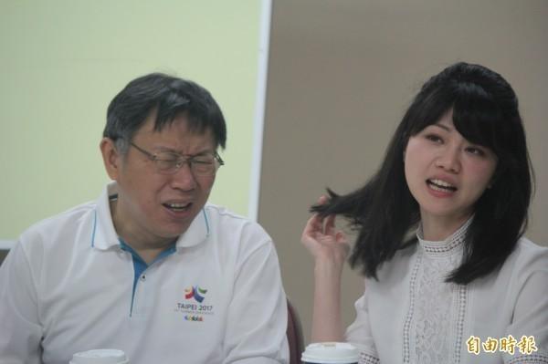 台北市議員高嘉瑜認為,柯文哲如果出來選2020,就是在幫助國民黨參選人韓國瑜,他可能就會變成歷史的罪人。(資料照)