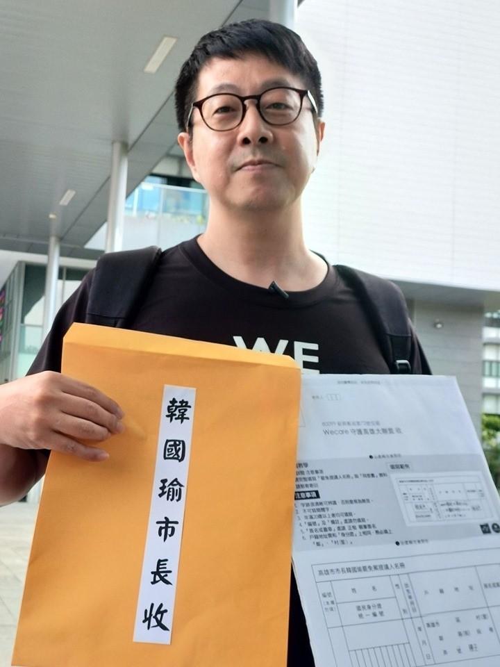 韓國瑜歡迎罷免發動者找他聊聊,尹立等了一晚沒人找他,直嘆韓市長又在唬爛。(記者黃佳琳翻攝)