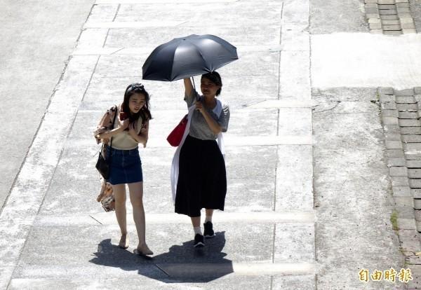 今日是24節氣的「大暑」,氣象局提醒,今日各地大多還是多雲到晴的天氣,北台灣午後仍有大雷雨發生的可能。(資料照)