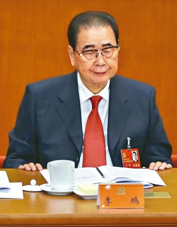 根據中國官媒「新華社」報導,曾擔任中國國務院總理的91歲李鵬在昨天晚上11點11分,已經在北京逝世。(圖片擷取自網路)