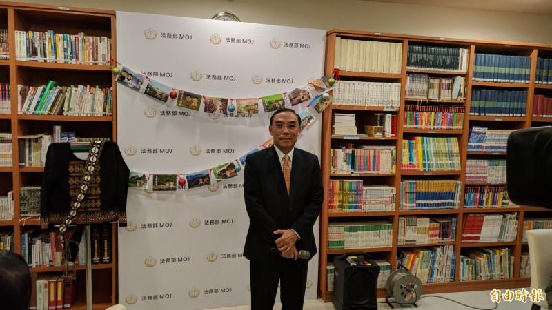 法務部長蔡清祥認為沒有小弟辦大哥的情形。(記者吳政峰攝)
