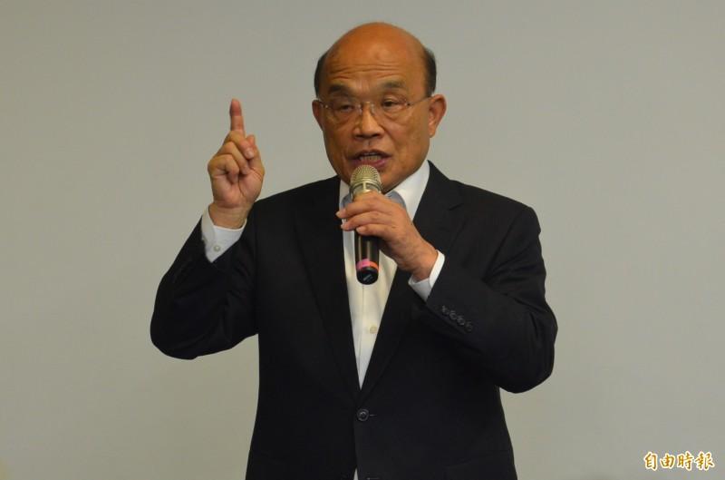 行政院長蘇貞昌拍板投資青年就業方案,4年投入近95億元。(資料照)