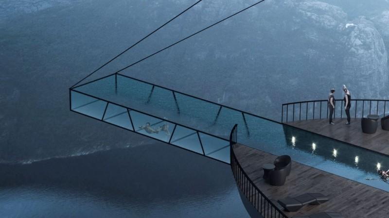 泳池伸出懸崖之外。(圖擷自Hayri Atak網站)