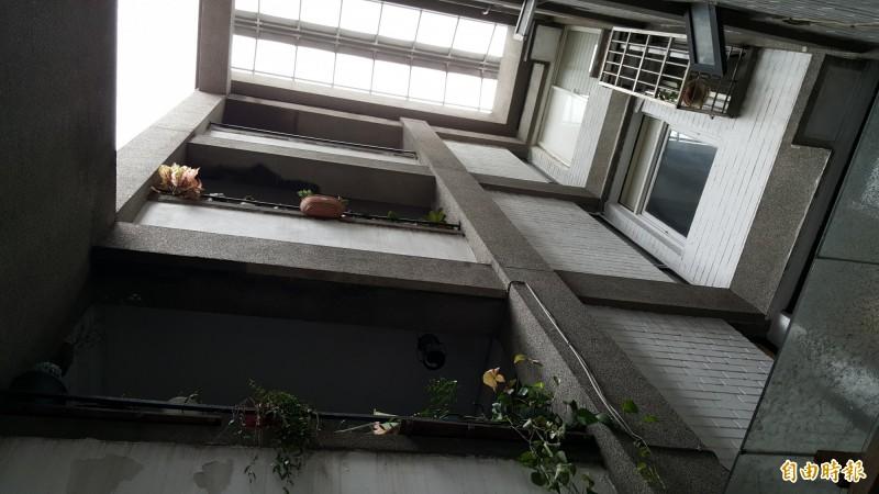 虹廬擁有獨特的天井造型。(記者楊心慧攝)