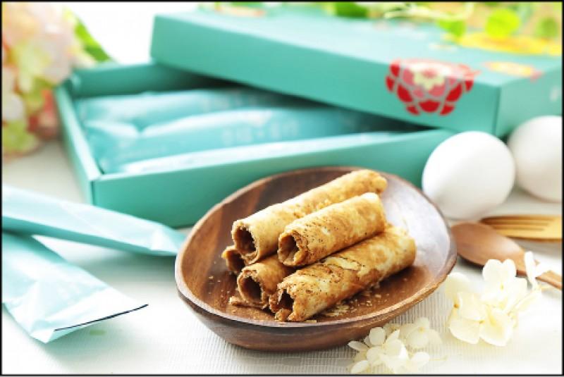 心路•幸福+工廠:幸福+蛋捲輕巧包(洋蔥口味一盒6入)/270元(記者陳宇睿/攝影)
