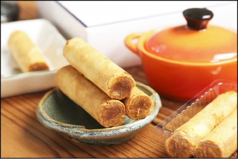 糕塔Bakery:酥脆肉鬆手工蛋捲(一盒12支)/350元(記者沈昱嘉/攝影)