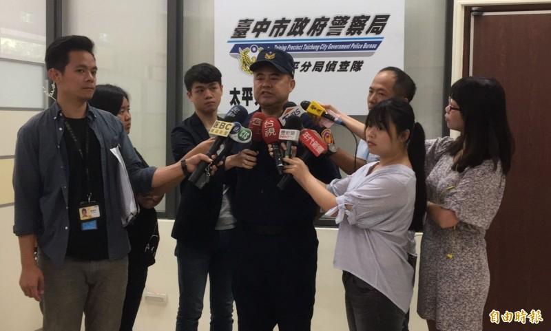太平分局副分局長張添勝,證實賴嫌逃亡途中,曾在台中市文心南路和文心南三路口對空又開了3槍。(記者陳建志攝)