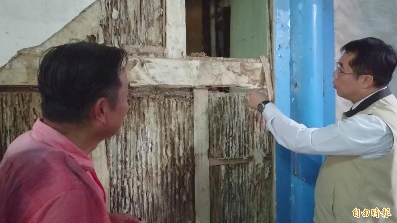 台南市定古蹟陳世興宅啟動古蹟修復工程。(記者劉婉君攝)