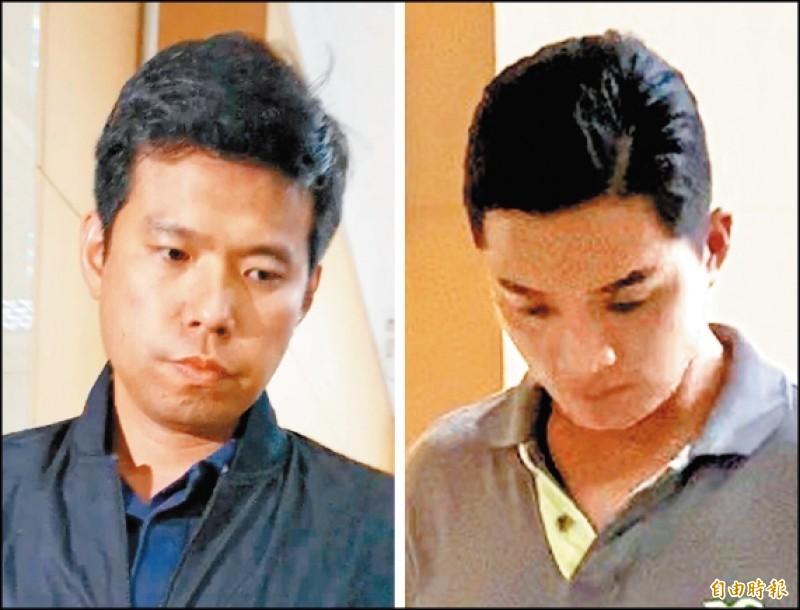 國安局私菸案被羈押禁見的少校吳宗憲(左)、張恒嘉(右)。(資料照)