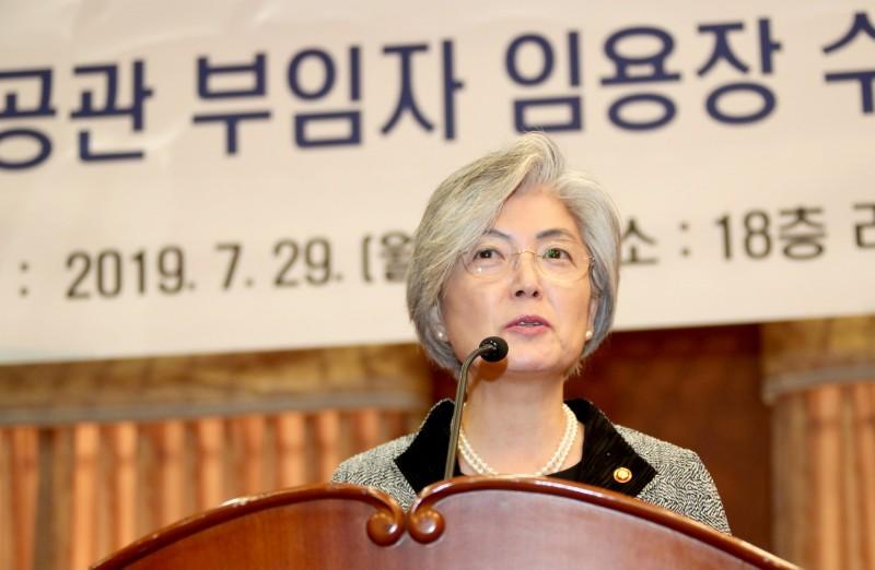 日韓兩國爭議不斷,南韓外交部部長康京和今日接受國會答詢表示,即將到期的《韓日軍事情報保護協定》續約問題,政府有可能視情況考慮將其作廢。(歐新社)