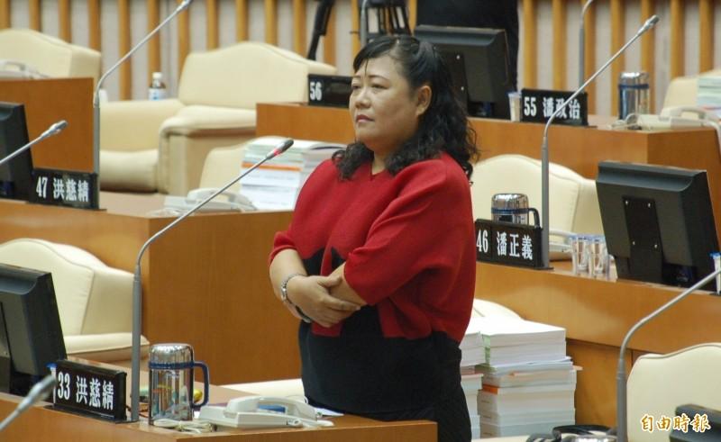 洪慈綪議員任內涉貪被重判12年。(記者李立法攝)