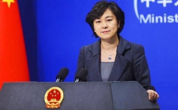 華春瑩不滿蔡英文的回應,認為歷史會決定誰對誰錯。(路透檔案照)
