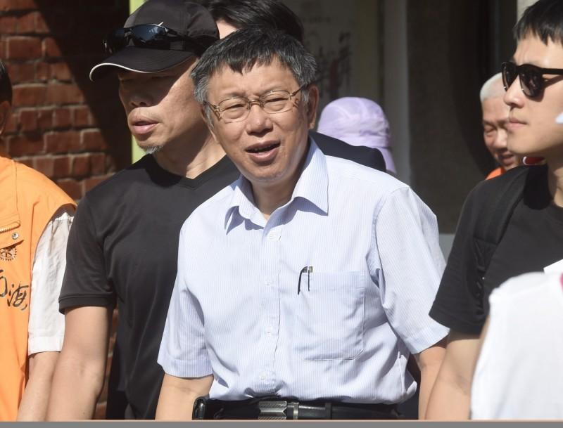 台北市長柯文哲籌組新政黨,直接使用台灣民主先驅蔣渭水先生所創的黨名「台灣民眾黨」。(資料照)
