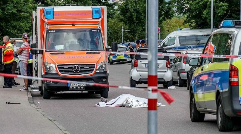 嫌犯昨日在卡塞爾市法桑諾夫(Fasanenhof)的南部住宅社區街道上,持長刀攻擊人致死。(歐新社)
