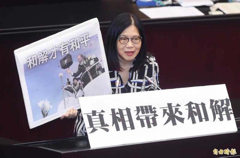 民進黨立委管碧玲在臉書上嘆「政治充滿矛盾」。(資料照)