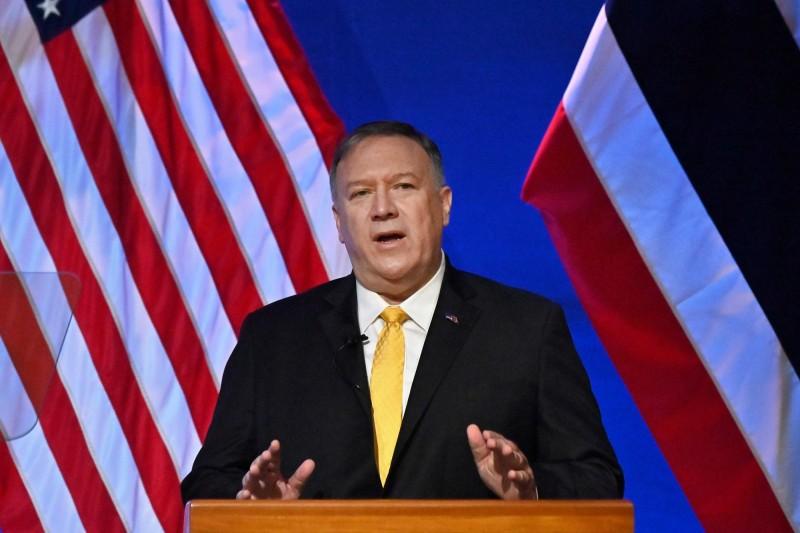 美國國務卿龐皮歐(Mike Pompeo)鰾是,中國「幾十年的不良行為」阻礙了自由貿易,促使美國展開加徵關稅和其他行動。(法新社)