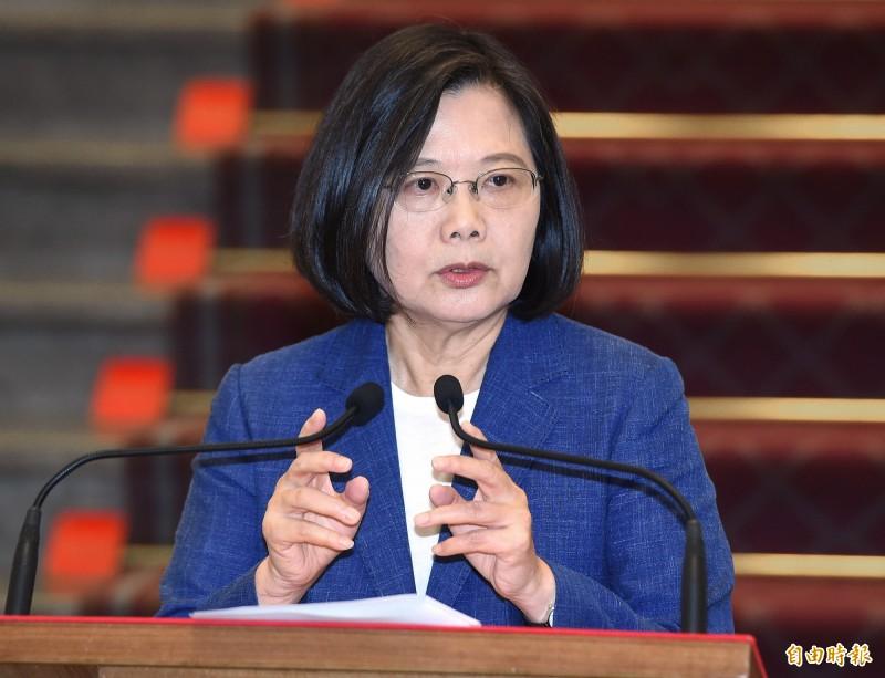 台灣智庫諮詢委員董立文表示,中共對台的考慮不再受藍綠侷限,「可能是怎麼能讓台灣的民主選舉最小幅度地去影響到中國大陸」。圖為台灣總統蔡英文。(資料照,記者廖振輝攝)
