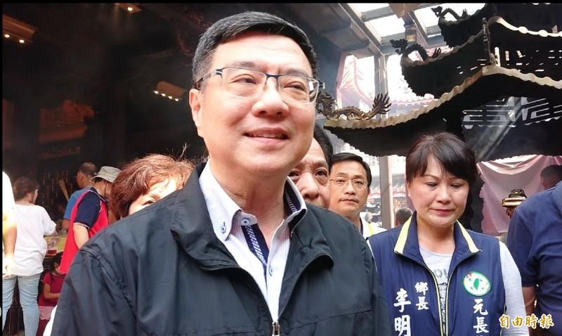 民進黨主席卓榮泰雲林行表示,將先聽地方需求中央再作選舉配置,至於會不會請立委蘇治芬再幫一次忙?語帶玄機說,「沒有這麼簡單的邏輯」。(記者廖淑玲攝)