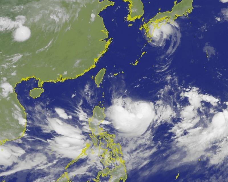 輕颱「利奇馬」動向備受關注,臉書「天氣即時預報」指出,經過一天的發展,「利奇馬」持續整合、增強中,依照各國氣象單位的強度預估,今天(6日)晚間就會增強為「中度颱風」。(圖擷取自中央氣象局)