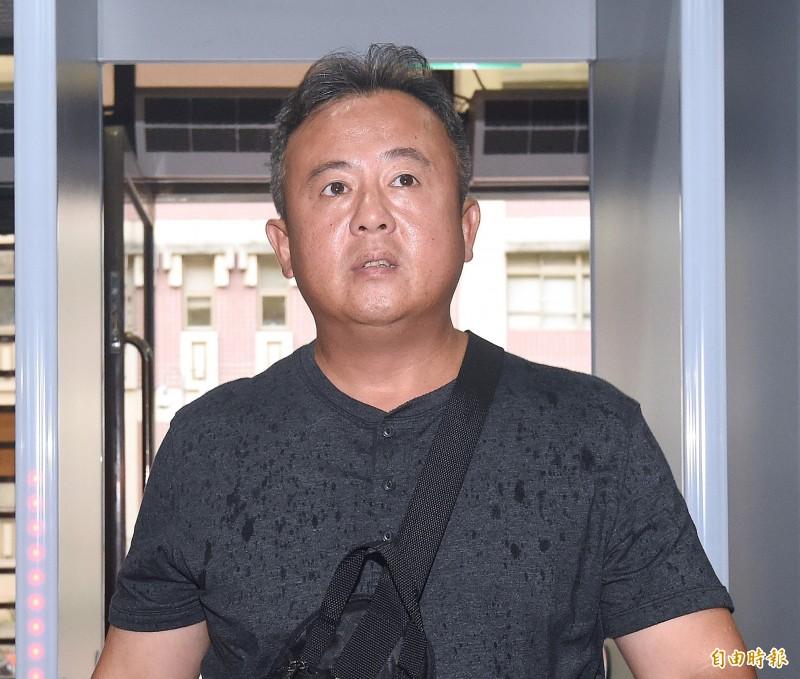 台北地院31日首度開庭審理前職棒球星王傳家通姦案,被告王傳家到庭應訊。(資料照,記者廖振輝攝)