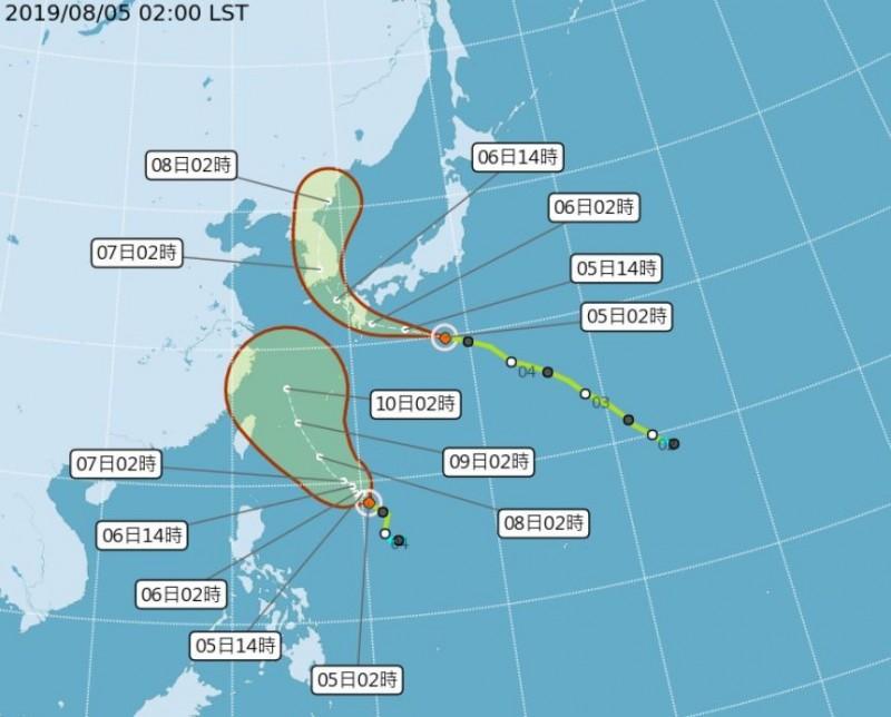 氣象局指出,第9號颱風利奇馬預估會從台灣東側海面北上,且強度上看中颱。(圖擷自氣象局網站)