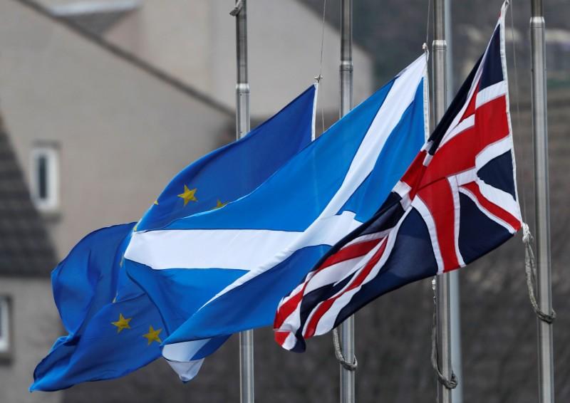 在英國脫歐大限將至、新任英相上任不久之際,最新民調指出,蘇格蘭支持從英國獨立的比例高達52%。(路透檔案照)
