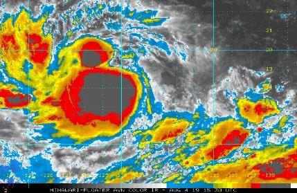 美國國家海洋暨大氣總署的資料顯示,立奇馬颱風持續發展。(圖擷取自NOAA)