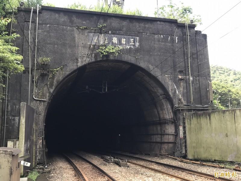 新的三貂嶺隧道。(記者林欣漢攝)