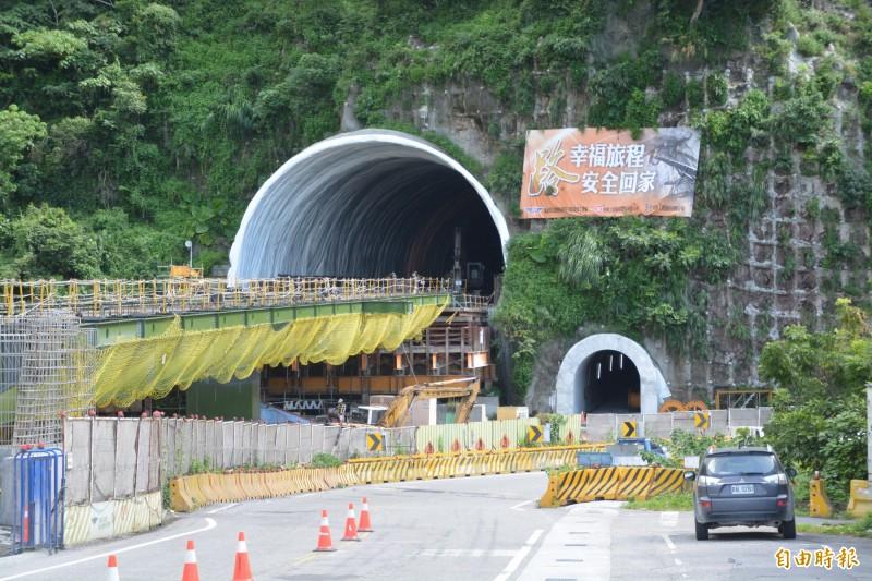 蘇花改仁水隧道南端出口。(記者王峻祺攝)