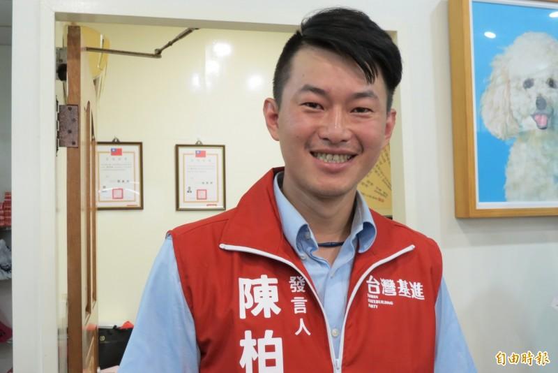 遭顏寬恒批不如去選總統,陳柏惟說依法40歲才能選總統(記者蘇金鳳攝)