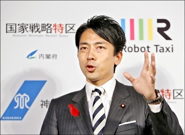 小泉進次郎宣布與大他3歲的日法混血女主播瀧川克莉絲汀結婚,瀧川已懷有身孕。(路透資料照)