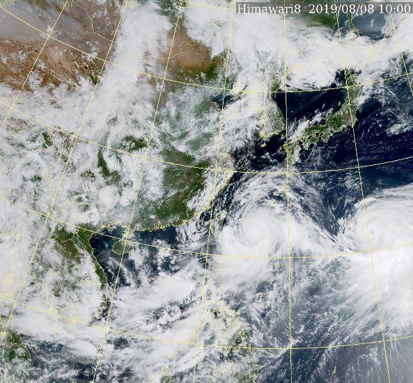 強颱利奇馬來勢洶洶。(圖擷取自中央氣象局)