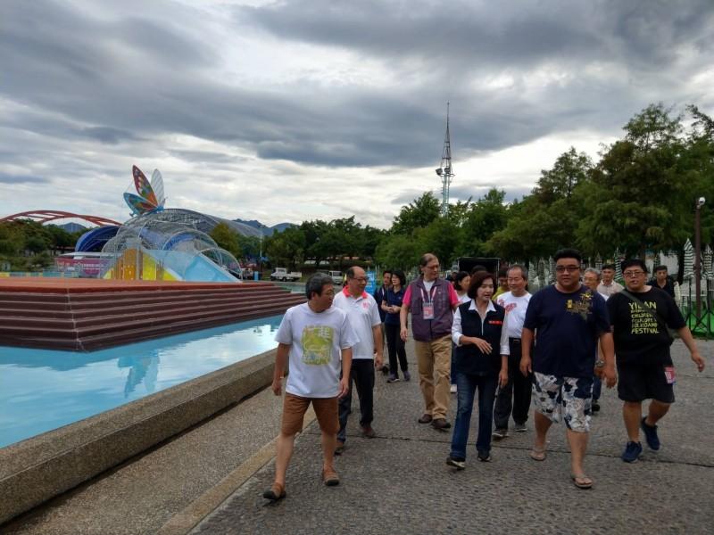 颱風利奇馬遠離,宜蘭國際童玩藝術節預計明天重新開園營運。(記者張議晨翻攝)