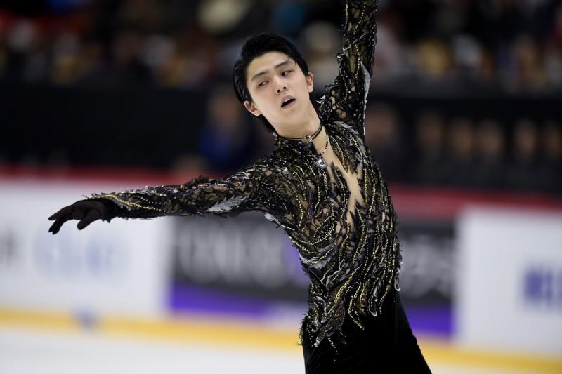 日本花樣滑冰選手羽生結弦近期比賽英姿。(路透)