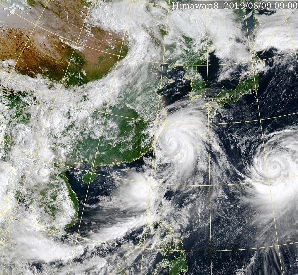 利奇馬颱風最新動態。(擷取自中央氣象局)